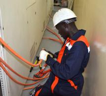Installations électriques au Sénégal.